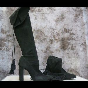 Over knee black suede boots Schutz